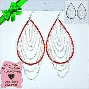 Jewelry - Beaded Chain Drop Earrings ~0cd40s0lc6